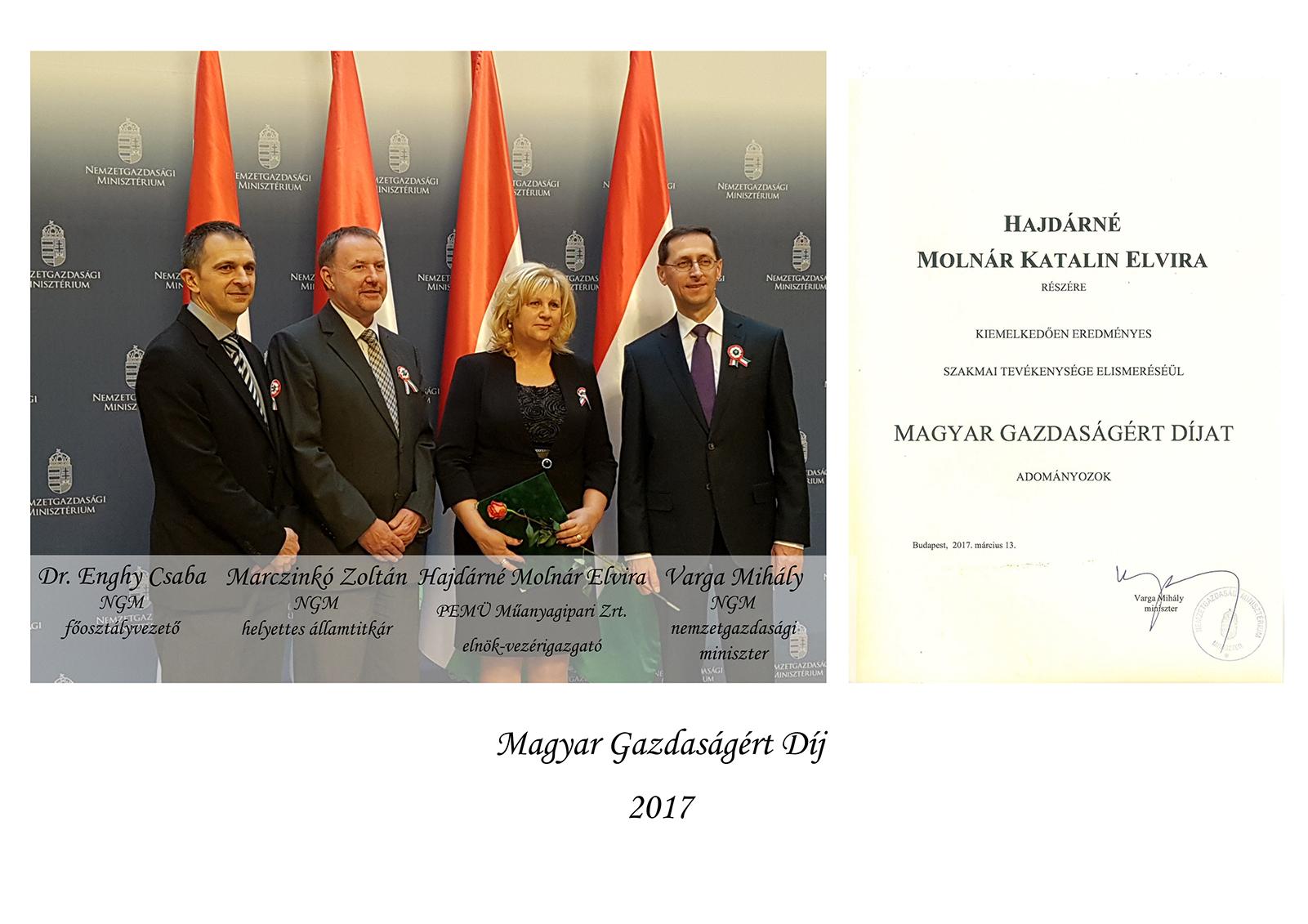 Magyar Gazdaságért Díj 2017